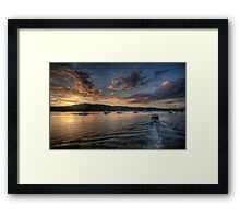 Last Light - Newport, Sydney - The HDR Experience Framed Print