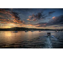 Last Light - Newport, Sydney - The HDR Experience Photographic Print