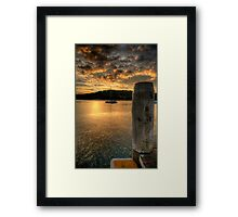 Dock In The Bay - Newport,Sydney - The HDR Experience Framed Print