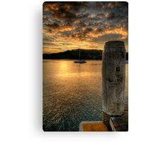 Dock In The Bay - Newport,Sydney - The HDR Experience Canvas Print