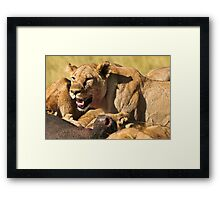 Bloodshed on the Plains of Africa Framed Print
