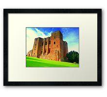 History Alight - Kenelworth Castle Framed Print