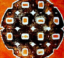 "The Orange Plate (Collagraph 1) by Belinda ""BillyLee"" NYE (Printmaker)"