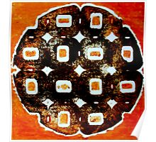 The Orange Plate (Collagraph 1) Poster