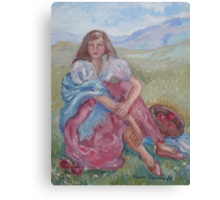 Picnic with Apples Canvas Print