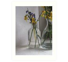 Flowers in a Glass Jar Art Print