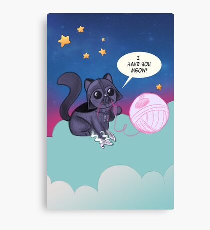 Darth Kitty    Canvas Print