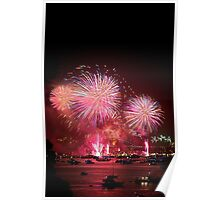 New Years Eve Fireworks in Sydney Harbour #2 Poster