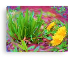 Eyes in a green face Canvas Print