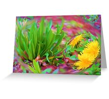 Eyes in a green face Greeting Card