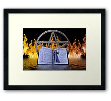 Fire and Water Spell Framed Print