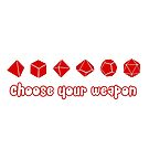 Choose your Weapon (Red) by Merwok