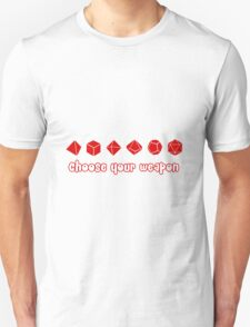 Choose your Weapon (Red) T-Shirt