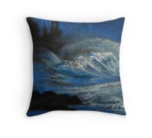 Night Rises the Storm Throw Pillow