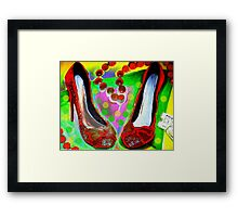 Red Shoes In Framed Print