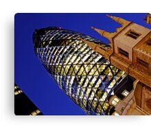 London Gherkin in a Blue Night Canvas Print
