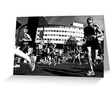 Paris - Marathon 2011. Greeting Card