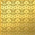 Gold Foil With Gold Glitter Pattern by Cherie Balowski