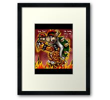Bowser and Jr Framed Print