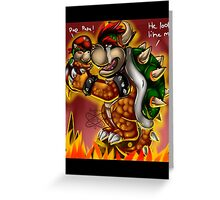 Bowser and Jr Greeting Card