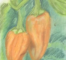 Two Orange Peppers by Kyleacharisse