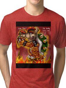 Bowser and Jr Tri-blend T-Shirt