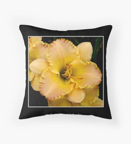 Lilies: Yellow #1 Throw Pillow