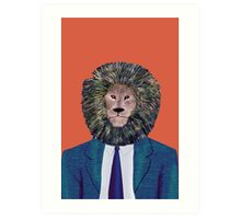 Mr. Lion's portrait Art Print