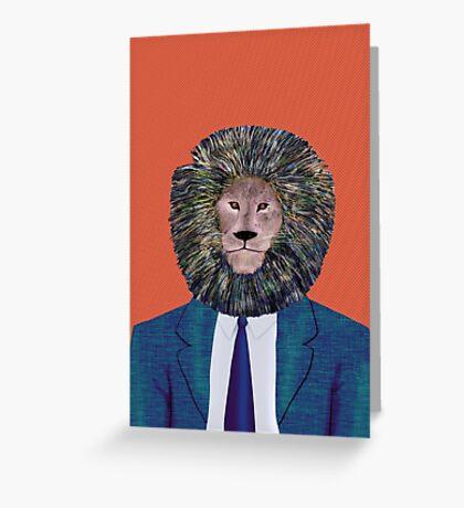 Mr. Lion's portrait Greeting Card