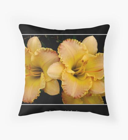 Lilies: Yellow #2 Throw Pillow