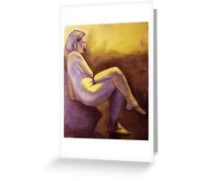 Seated Woman Greeting Card