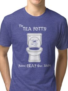Tea Potty - Political Crap Since 2009 (Version 2) Tri-blend T-Shirt
