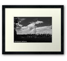 Baseball Field at noon Framed Print