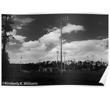 Baseball Field at noon Poster