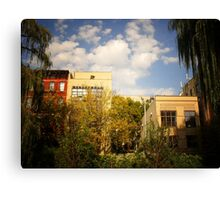 Sky Above a Garden in Alphabet City East Village Canvas Print