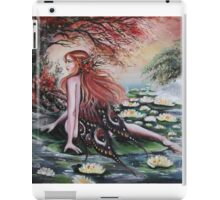 Autumn fall faerie fairy weeping willow, waterlily iPad Case/Skin