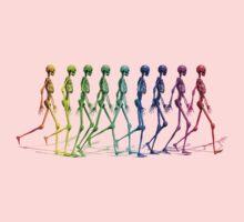 Skeletons walking One Piece - Long Sleeve