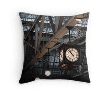 Glasgow Central Station Clock Throw Pillow