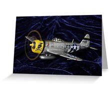 P47 on velvety soft landing. ;-) Greeting Card