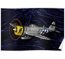 P47 on velvety soft landing. ;-) Poster
