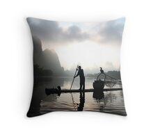 Sunrise on the Li River Throw Pillow