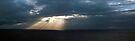 Ocean sunrays pano by Odille Esmonde-Morgan