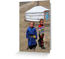 Mongolian children Greeting Card