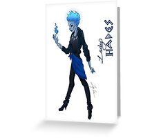 Lady Hades Greeting Card