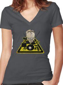 Dangerous drummer 2 Women's Fitted V-Neck T-Shirt