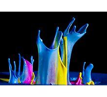 Blue Shroud - Liquid Sculptures Photographic Print