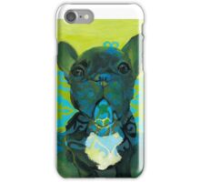 Two Tone Scroll Frenchie iPhone Case/Skin
