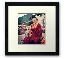 Venerable Khenchen Palden Sherab Rinpoche Framed Print