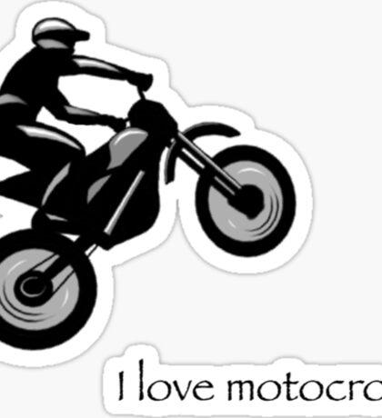 I love motocross t-shirt 2 (black logo) Sticker