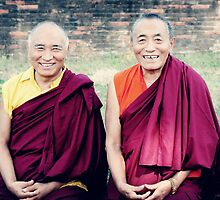 Venerable Khenpo Tsewang Dongyal Rinpoche and Venerable Khenchen Palden Sherab Rinpoche  by dcphotos